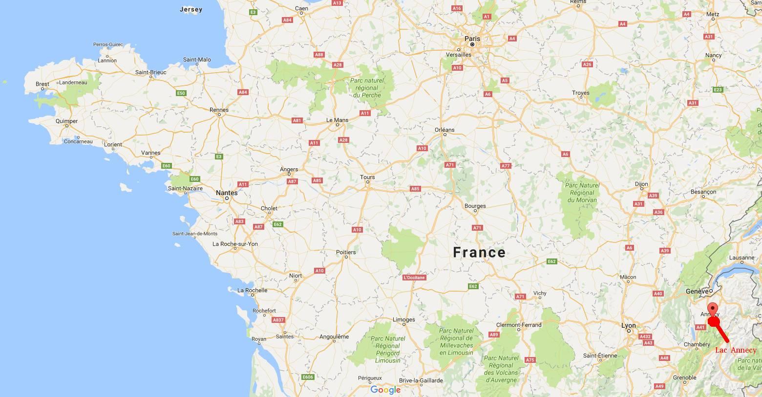 Où se trouve le lac d'Annecy ?