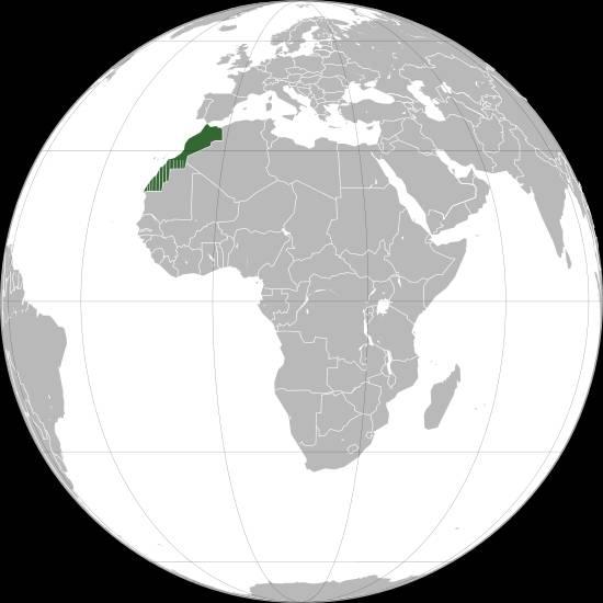 Où se trouve le Maroc sur une carte ?