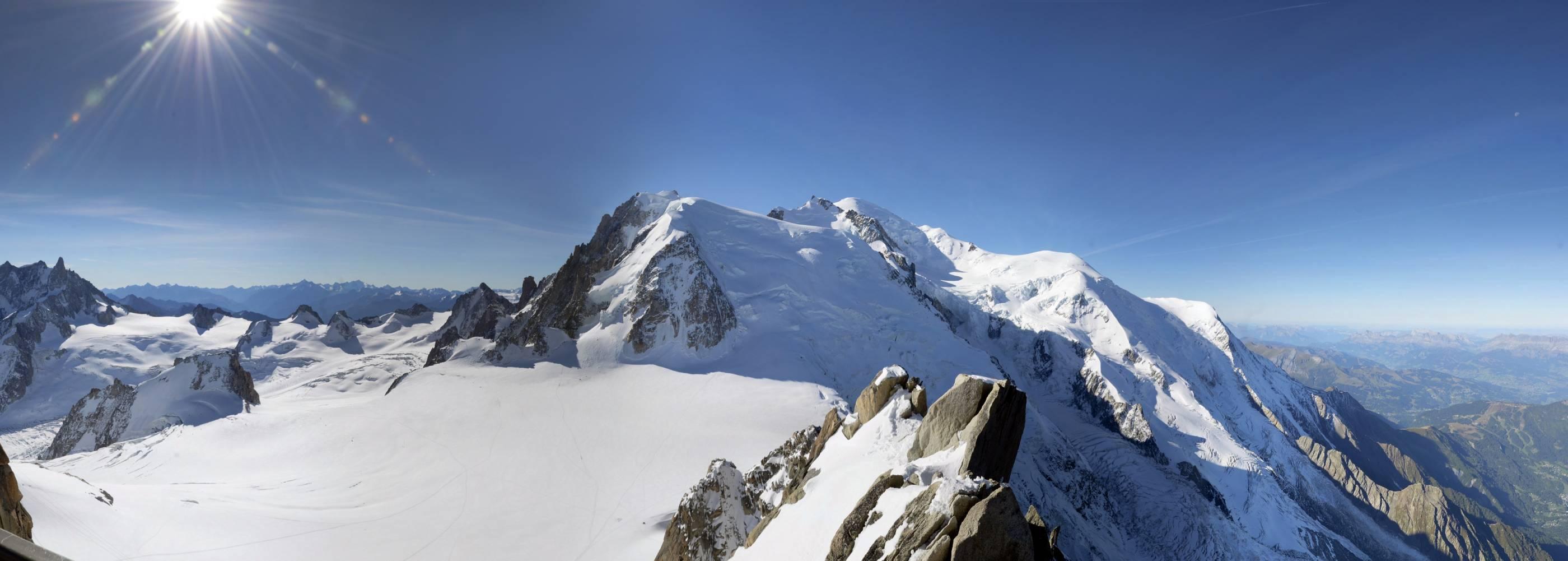 Panorama depuis l'Aiguille du Midi