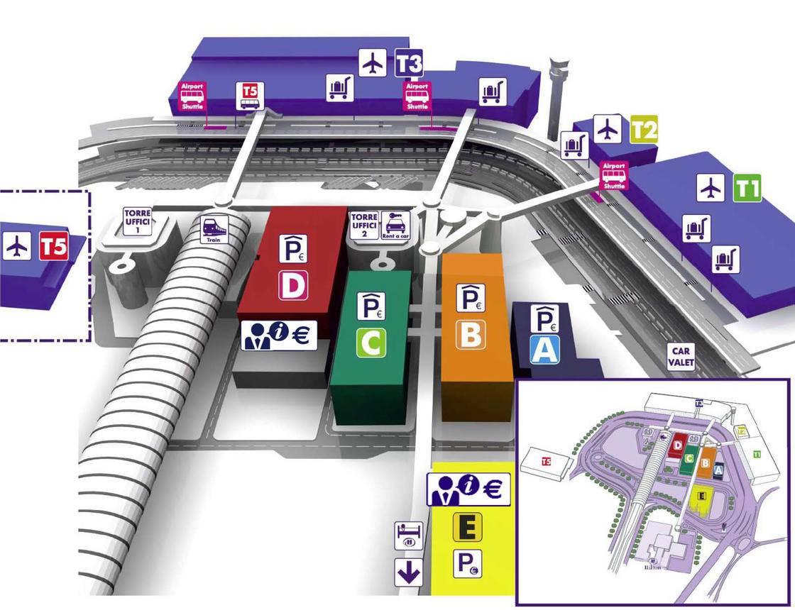 Plan de l'aéroport de Fiumicino