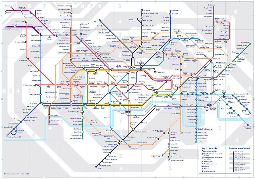 Plan du métro de Londres