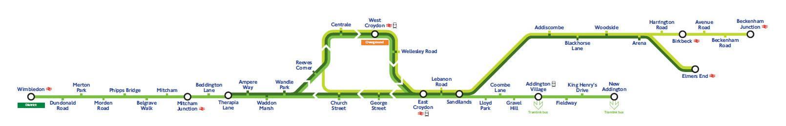 Plan du tramway de Londres