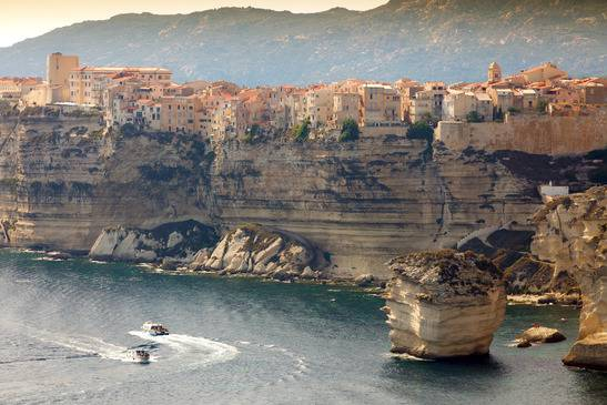 Ville de Bonifacio en Corse