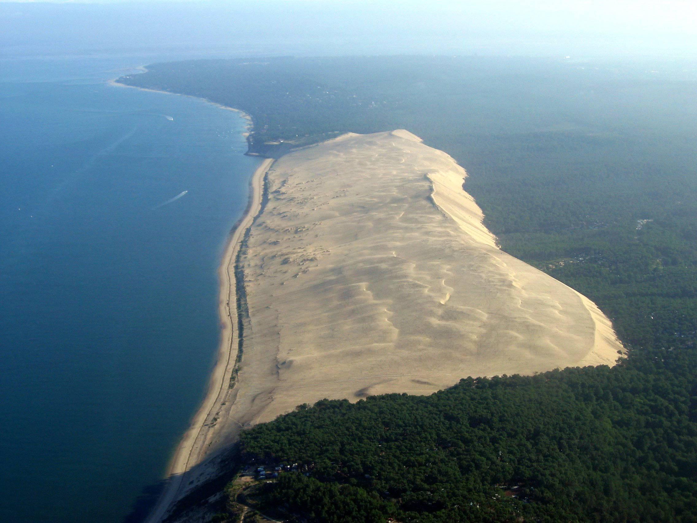 Vue aérienne de la Dune du Pilat
