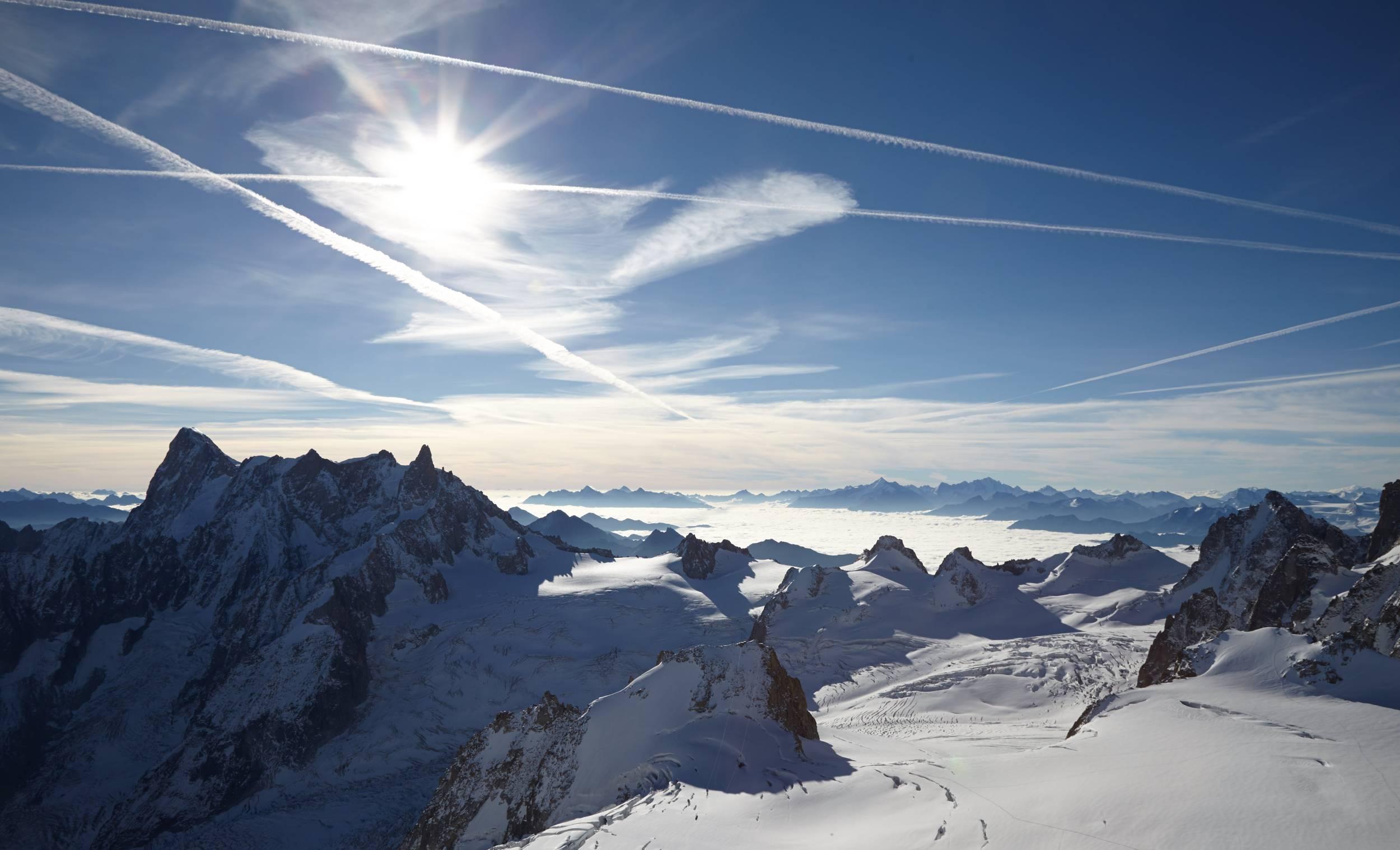 Vue depuis l'Aiguille du Midi