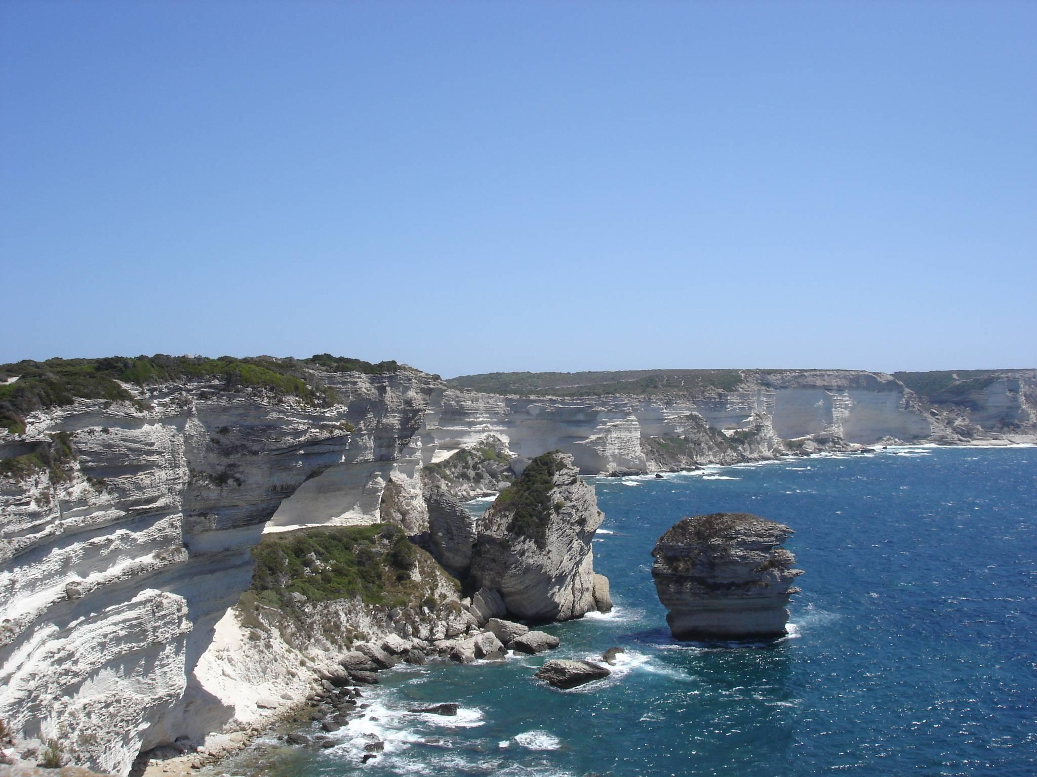 Vue des falaises de Bonifacio