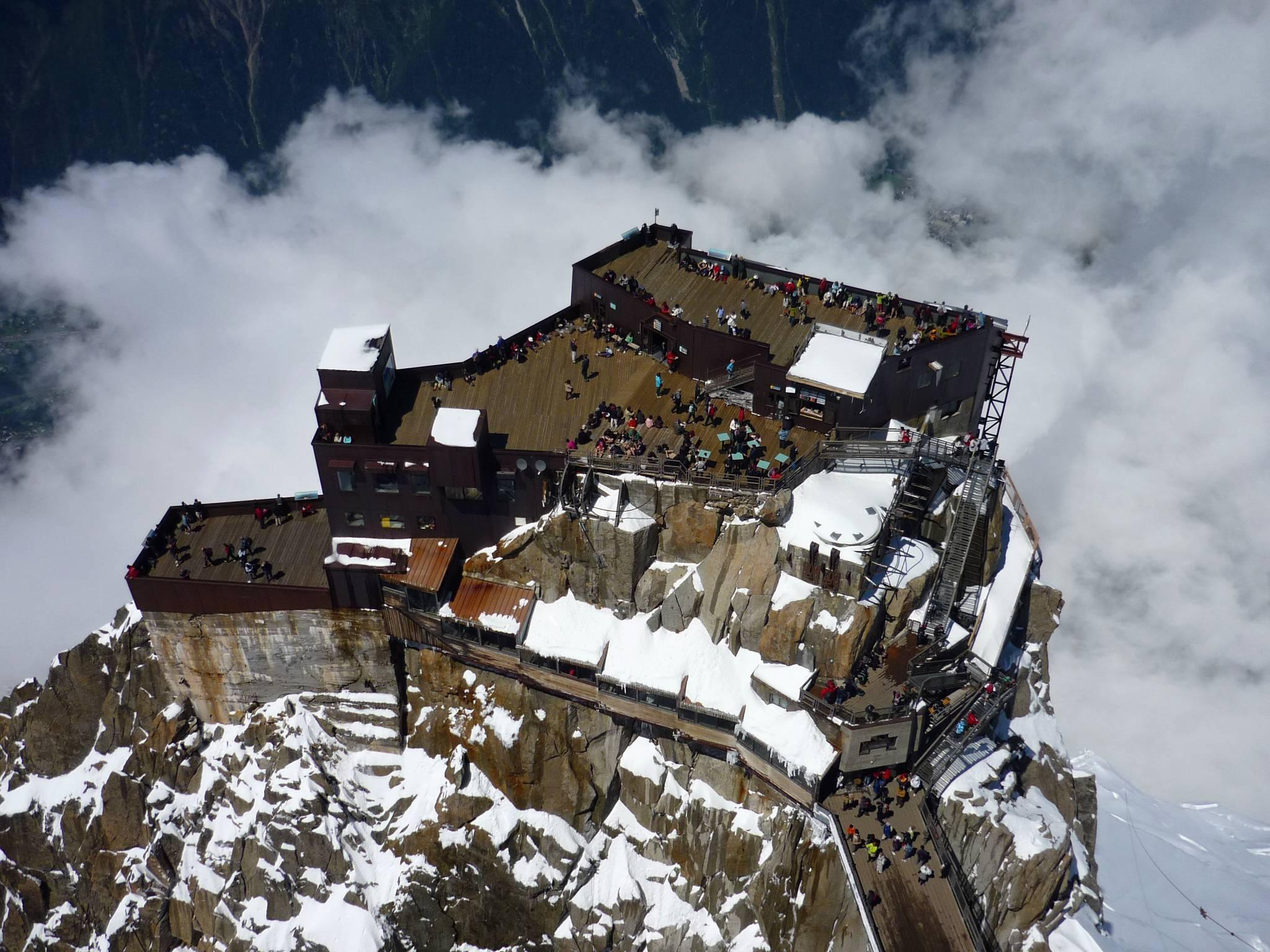 Vue depuis le sommet de l'Aiguille du Midi