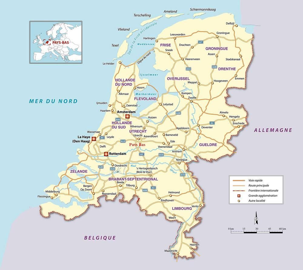 Autre carte des Pays-Bas