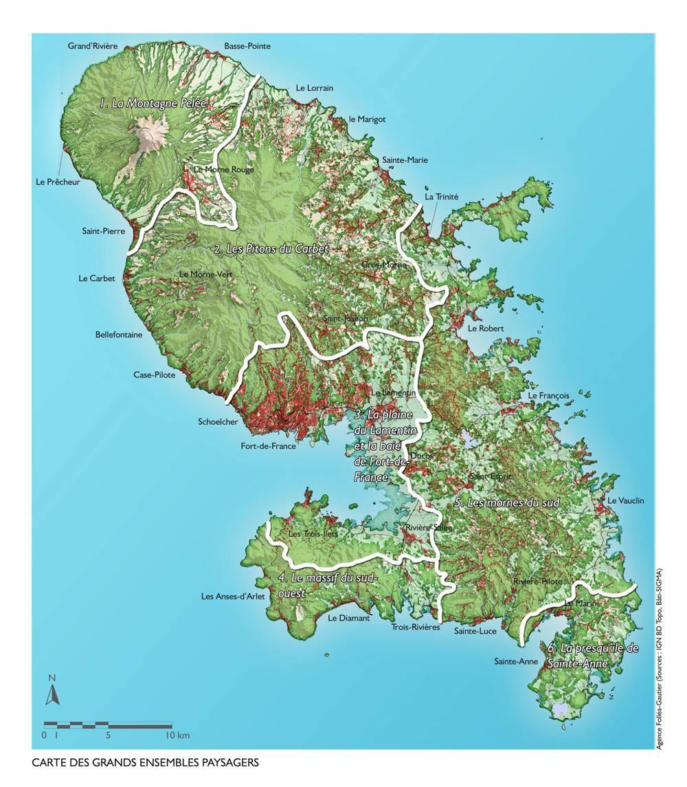 Carte Martinique Detaillee.Carte De La Martinique Decouvrir Les Villes Le Relief