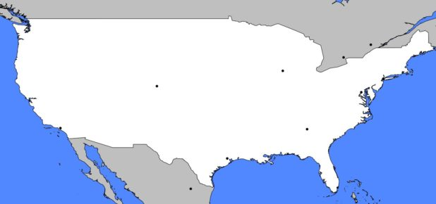 Autre carte vierge des USA