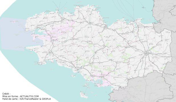 Bretagne carte détaillée