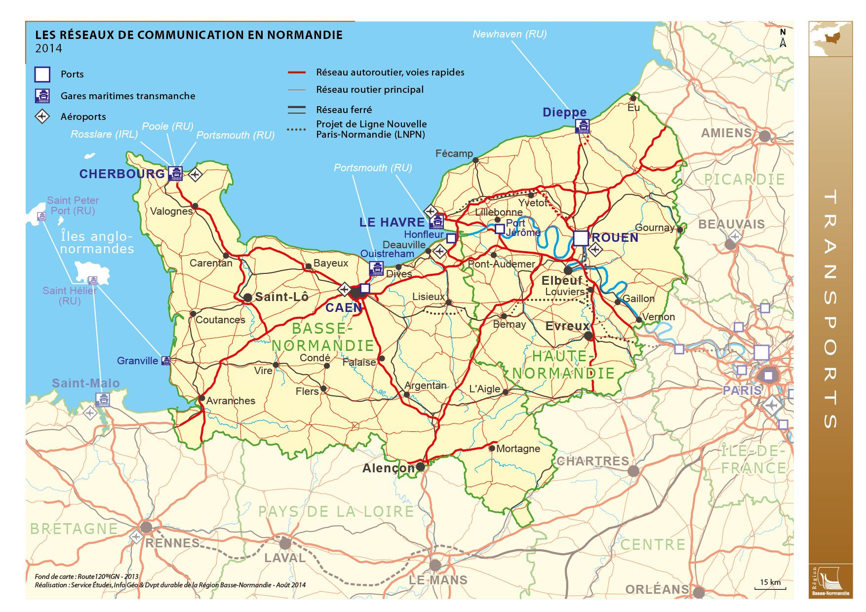 carte de normandie - Image