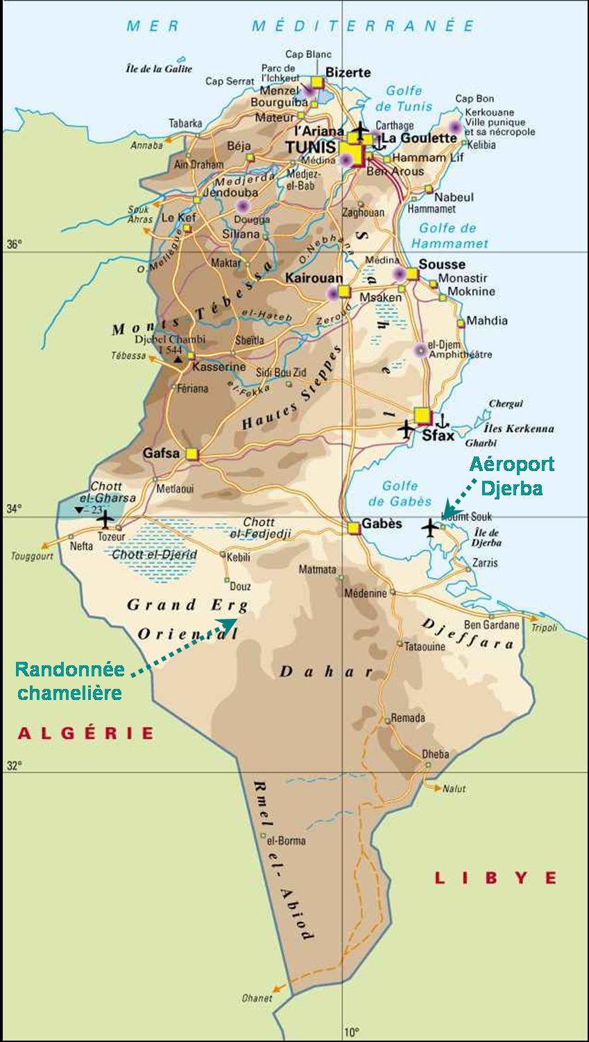 Carte De La Tunisie Plusieurs Cartes De La Tunisie