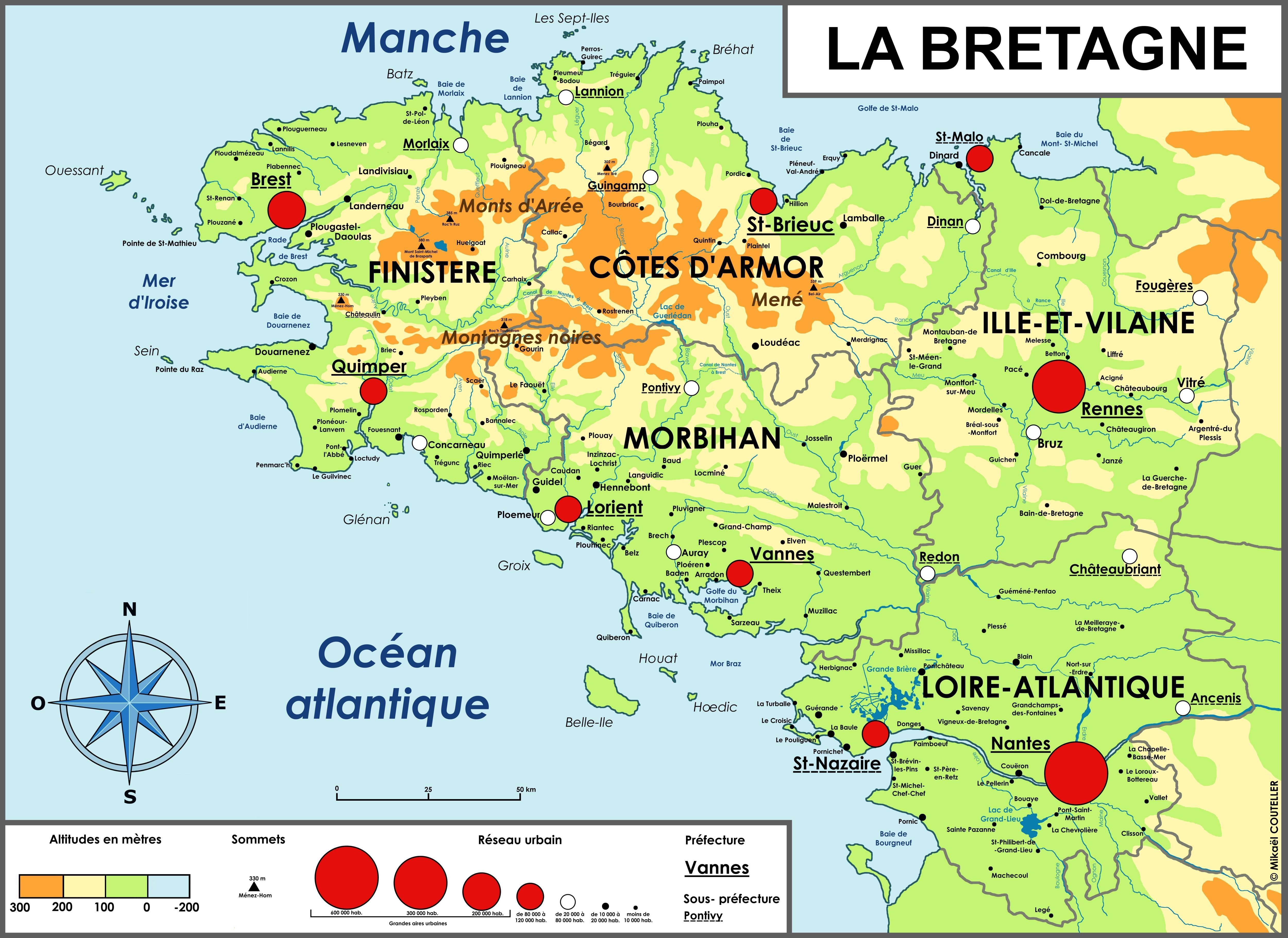 carte de bretagne - Photo
