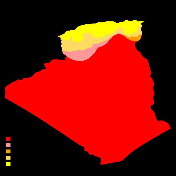 Carte du climat en Algérie