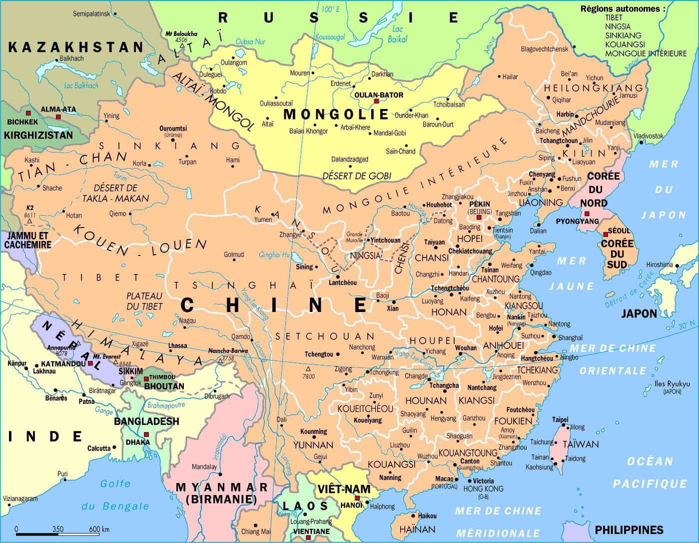 Autre carte de la Chine