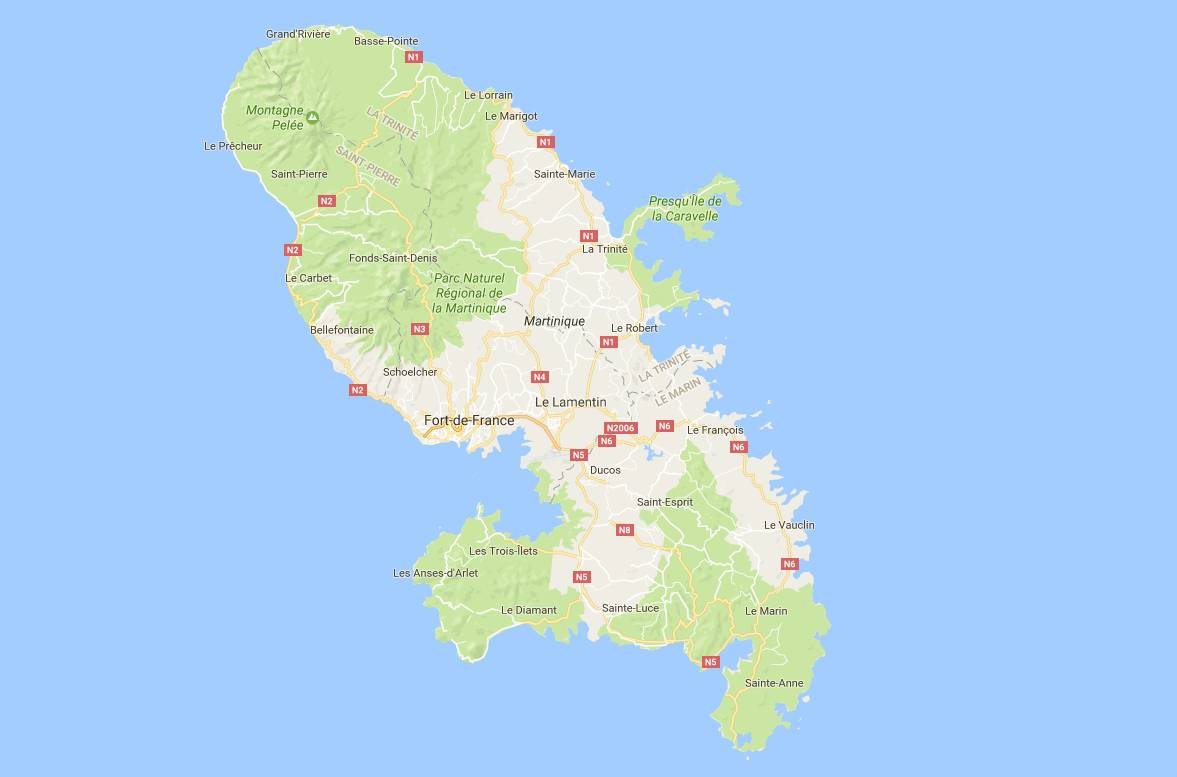 Carte sur la Martinique