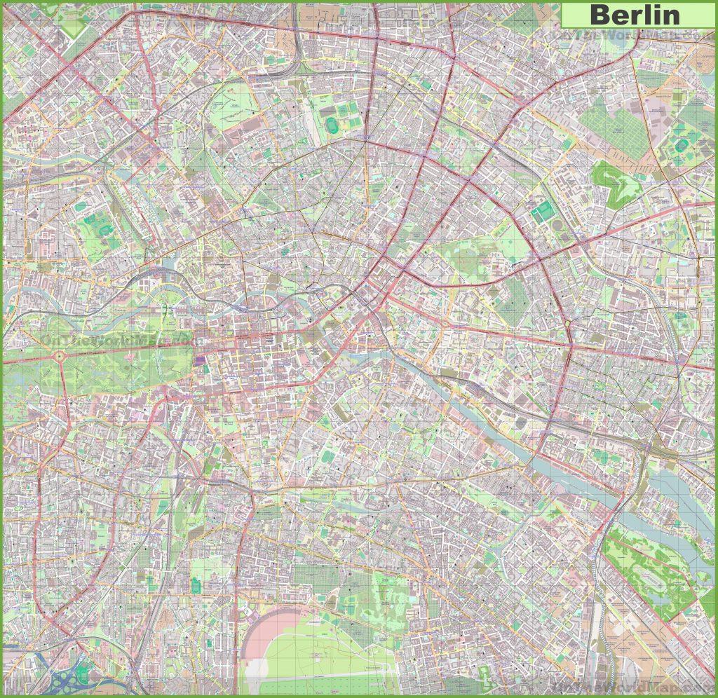 Carte détaillée de Berlin