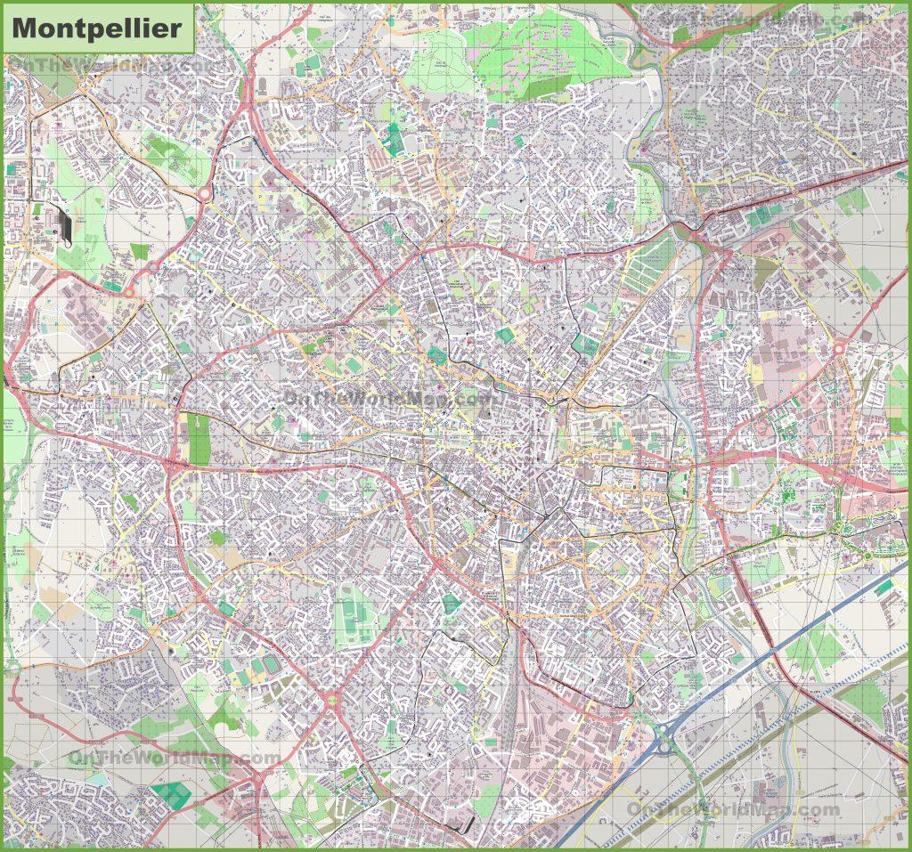 Carte détaillée de Montpellier