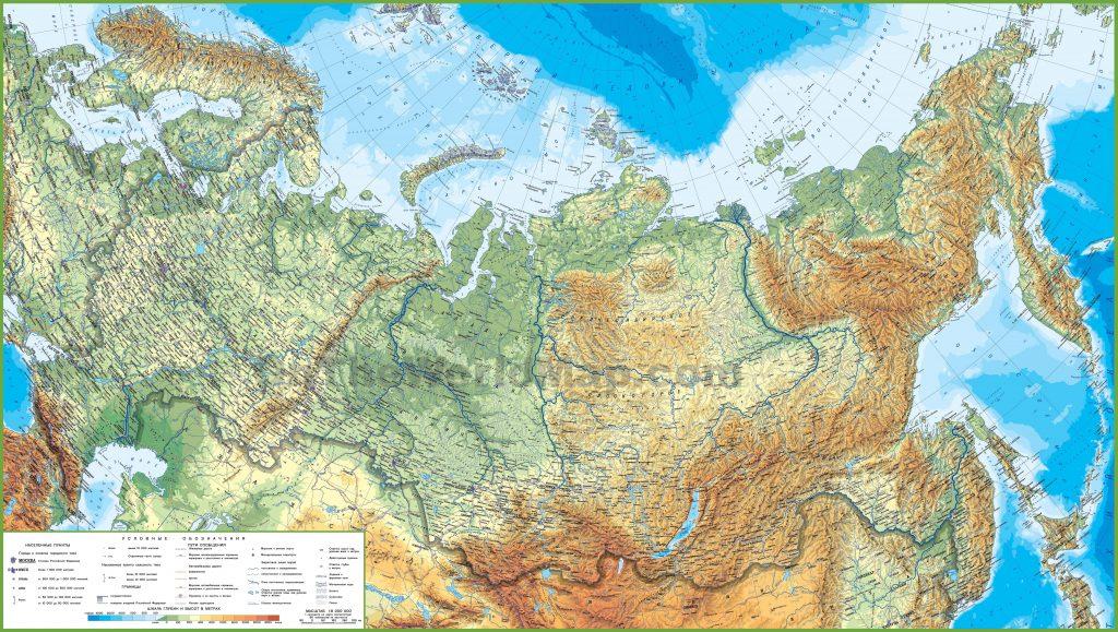 Carte détaillée de la Russie