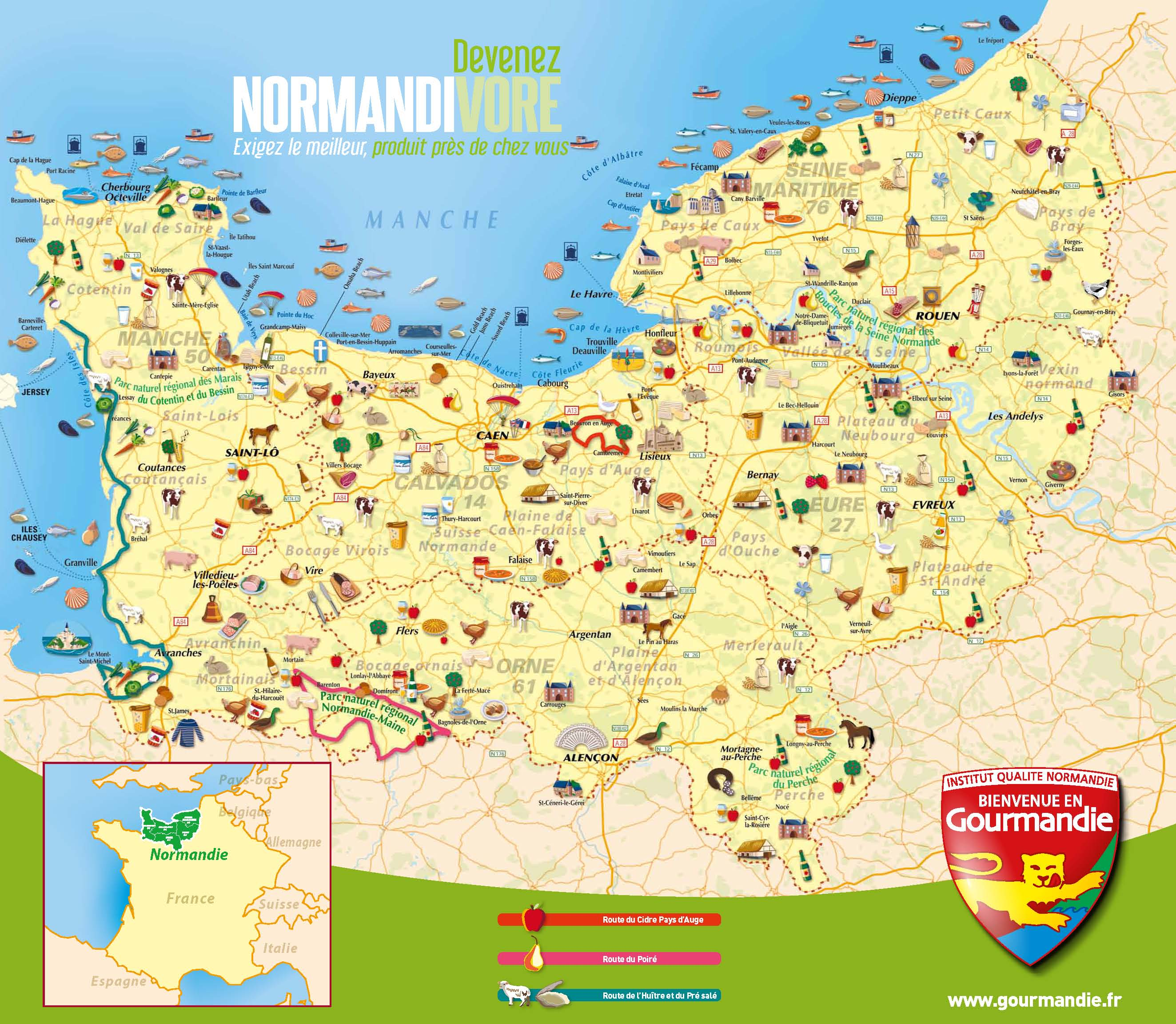 carte de normandie - Photo