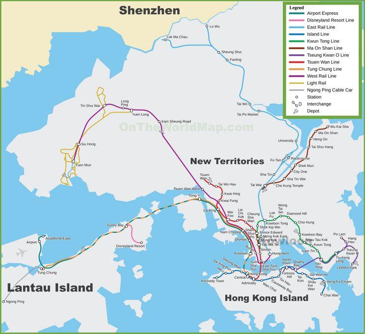 Carte de Hong Kong Transit Railway