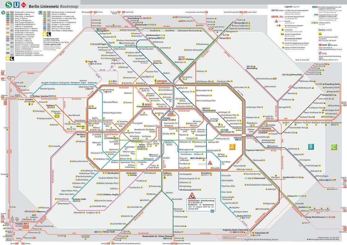 Carte du métro de Berlin