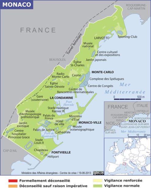 Carte de Monaco