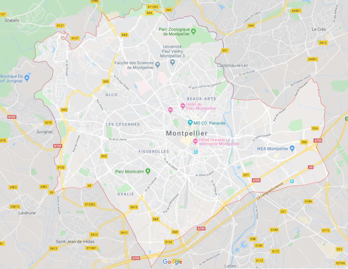 Montpellier carte