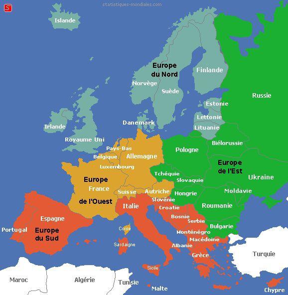 Carte Europe Du Nord En Francais.Carte De L Europe Cartes Reliefs Villes Pays Euro Ue
