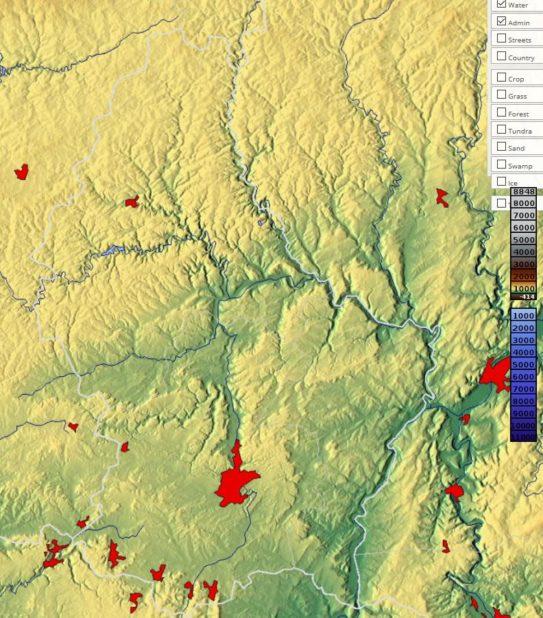 Carte du relief du Luxembourg