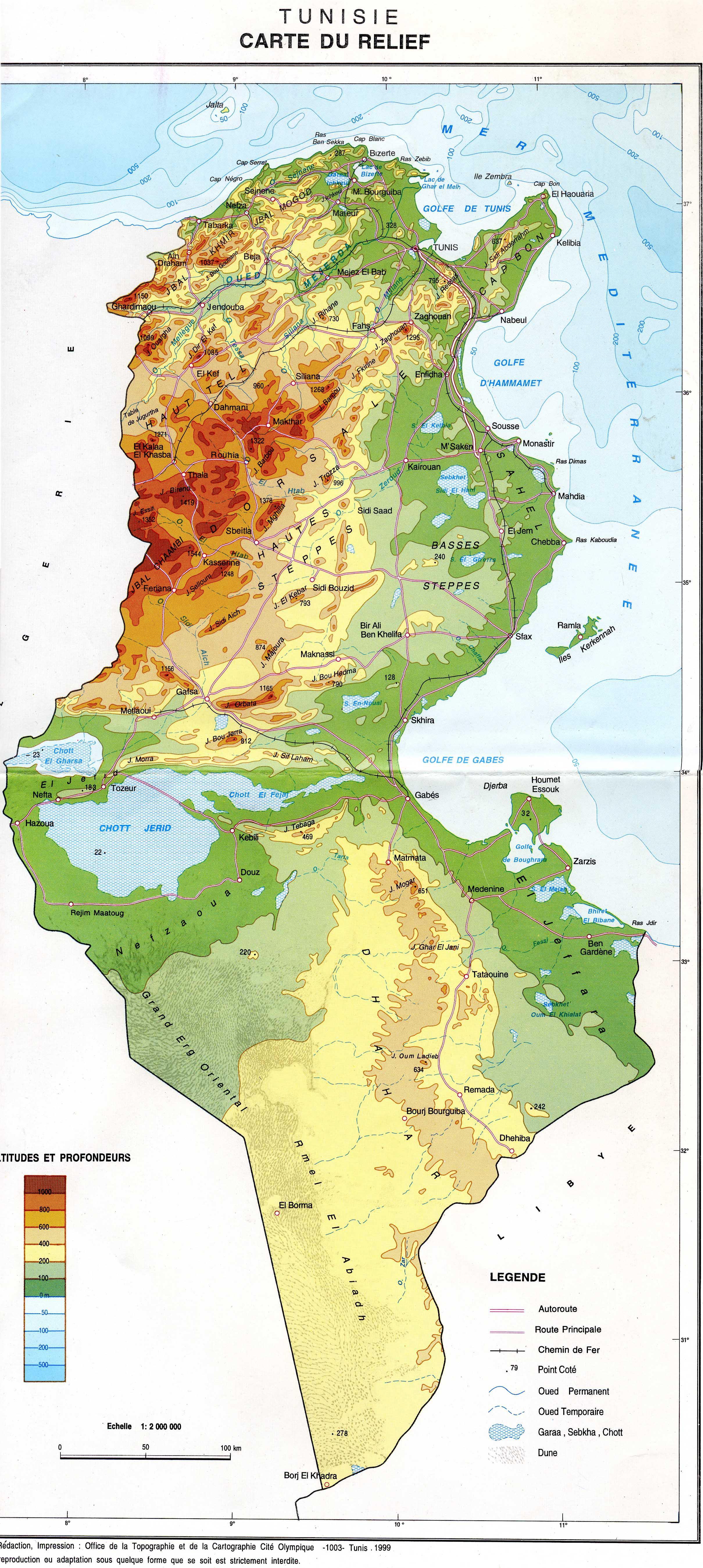 carte de la tunisie plusieurs cartes de la tunisie villes relief administrative politique. Black Bedroom Furniture Sets. Home Design Ideas