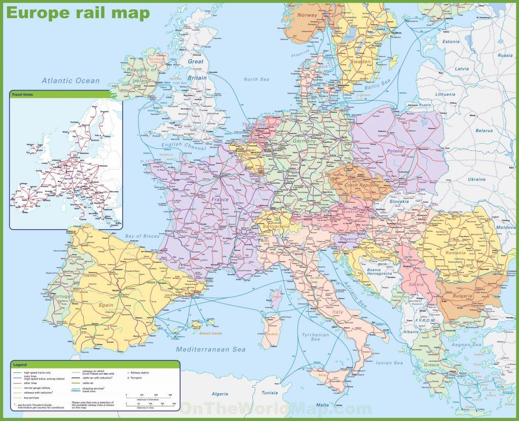 Carte du réseau ferroviaire en Europe