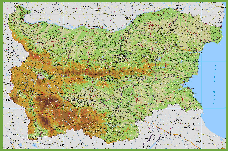 Carte de la bulgarie les routes villes le relief les r gions de bulgarie - La carte de l empire ottoman ...