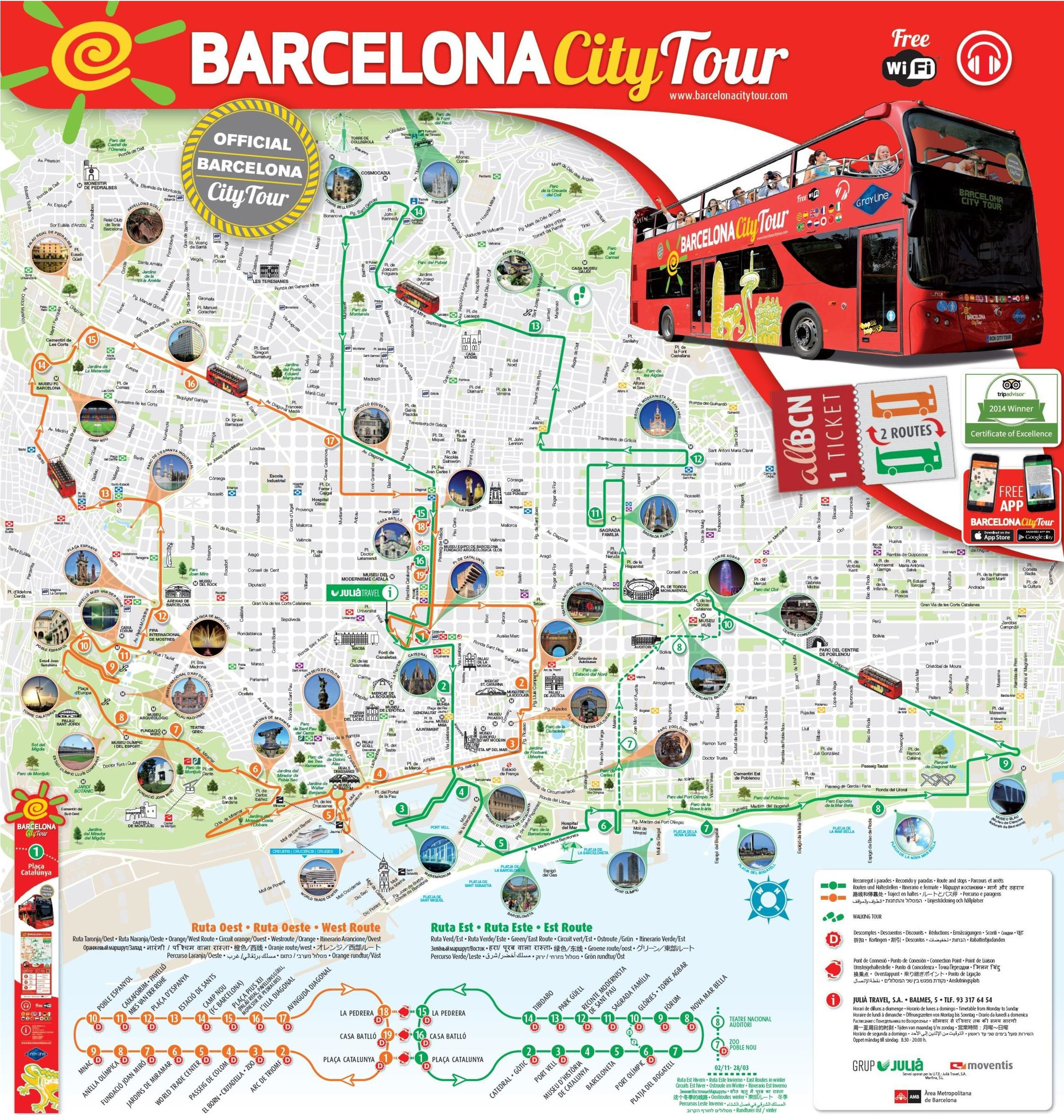 Carte De Barcelone Et Ses Environs.Carte De Barcelone Cartes Plans De Barcelone Sites