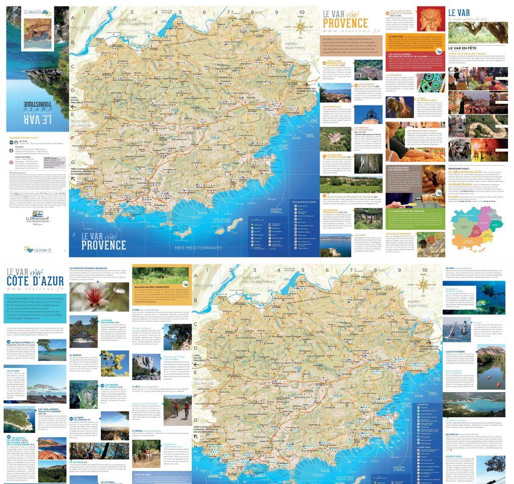 Carte des sites touristiques du Var