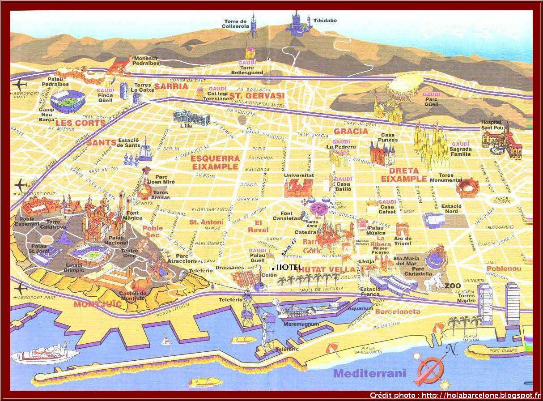 Carte du tourisme à Barcelone