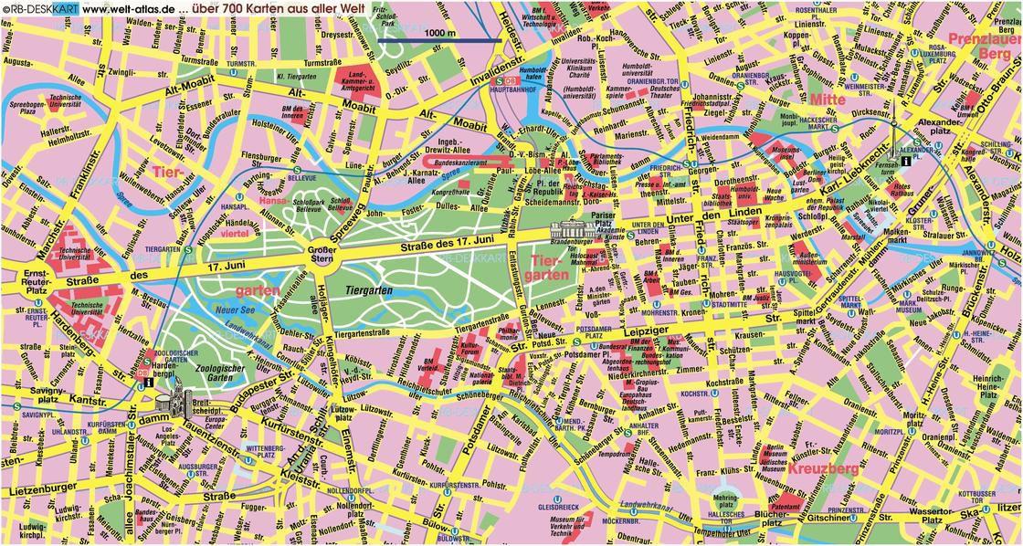 Carte du tourisme de Berlin