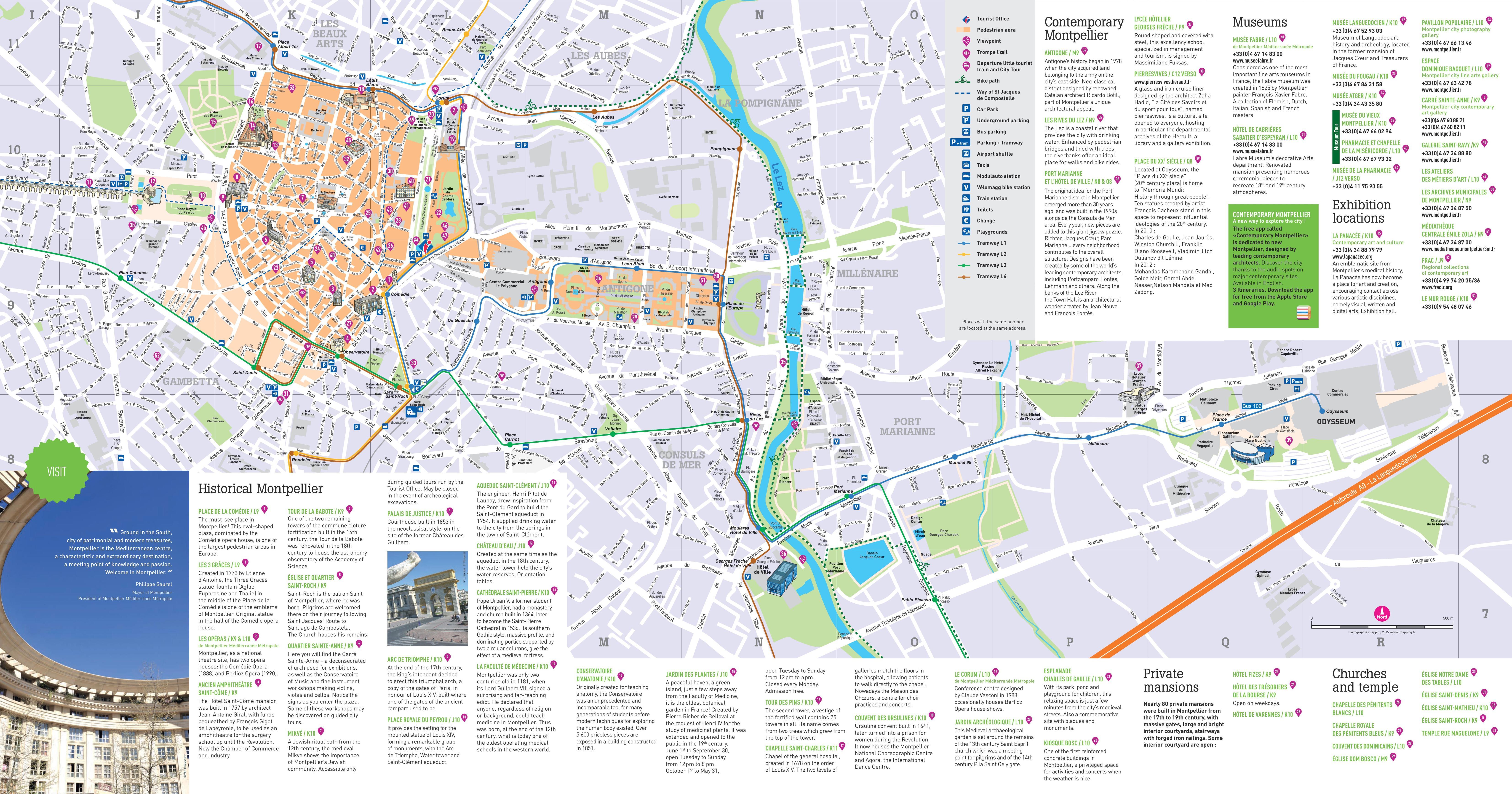 Montpellier Plan De La Ville