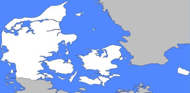 Carte vierge du Danemark