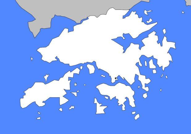 Carte vierge de Hong Kong