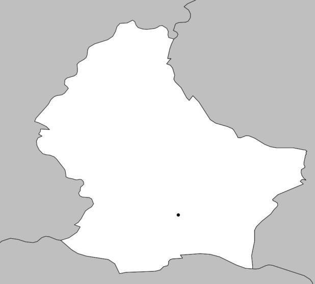 Carte vierge du Luxembourg