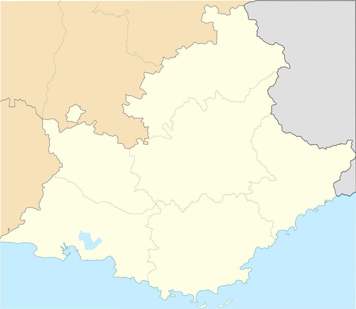 Carte vierge PACA (Provence Alpes Côte d'Azur)