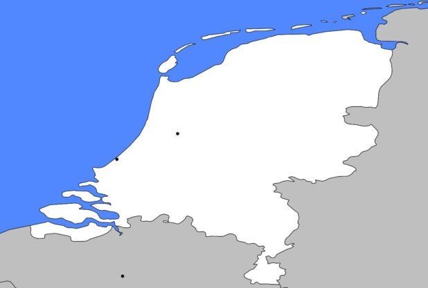 Carte vierge des Pays-Bas
