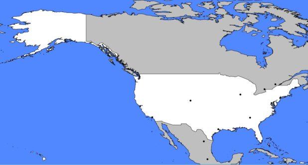 Carte vierge des USA (États-Unis)