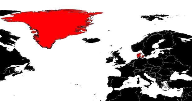 Danemark sur une carte Europe