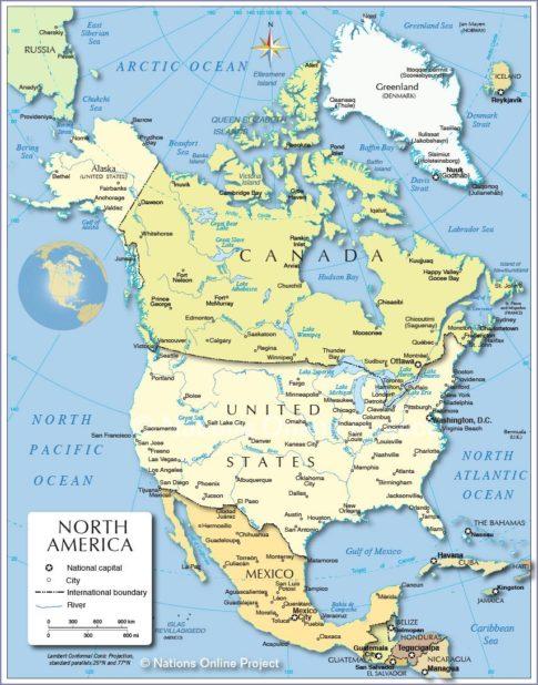 Etats-Unis carte