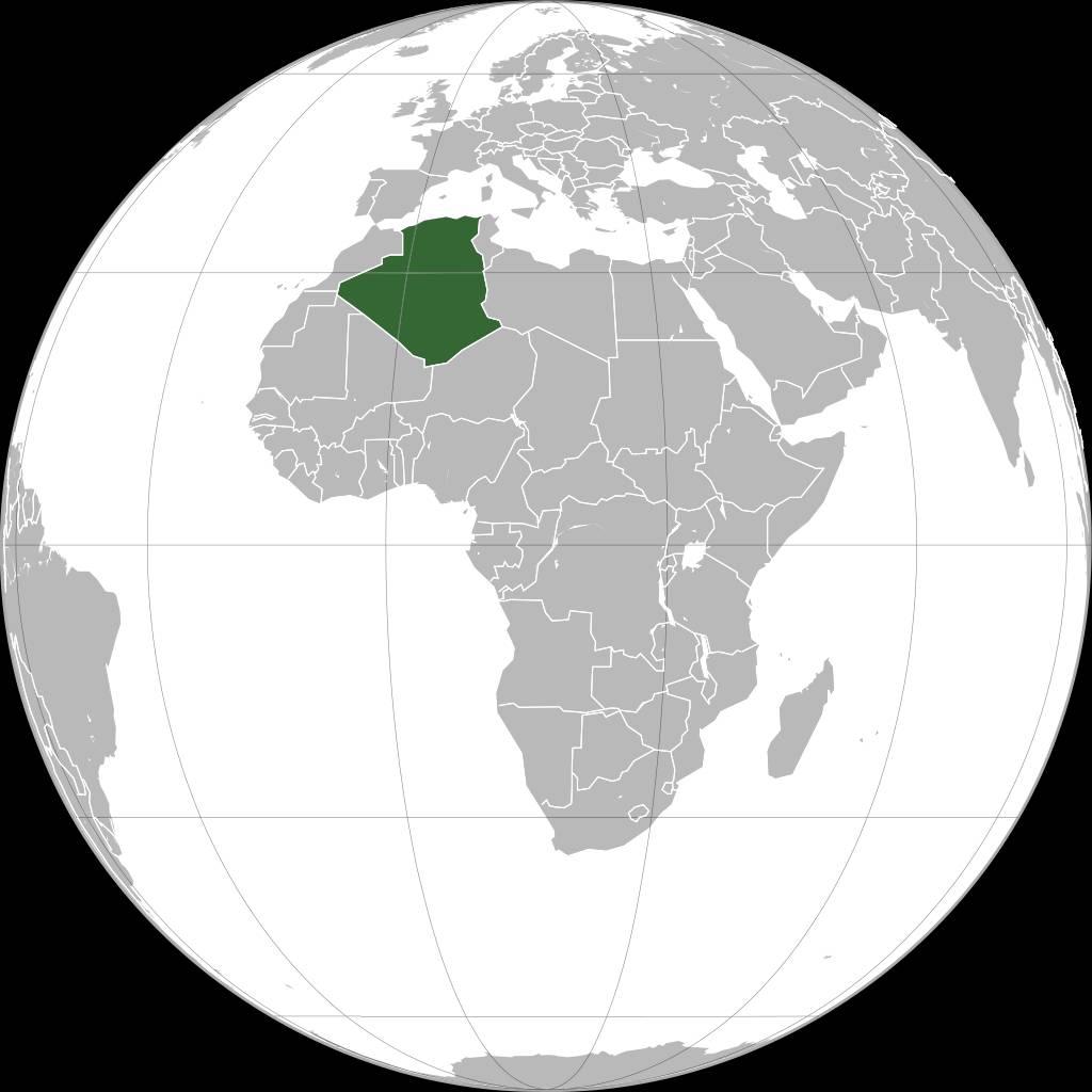 Où se trouve l'Algérie