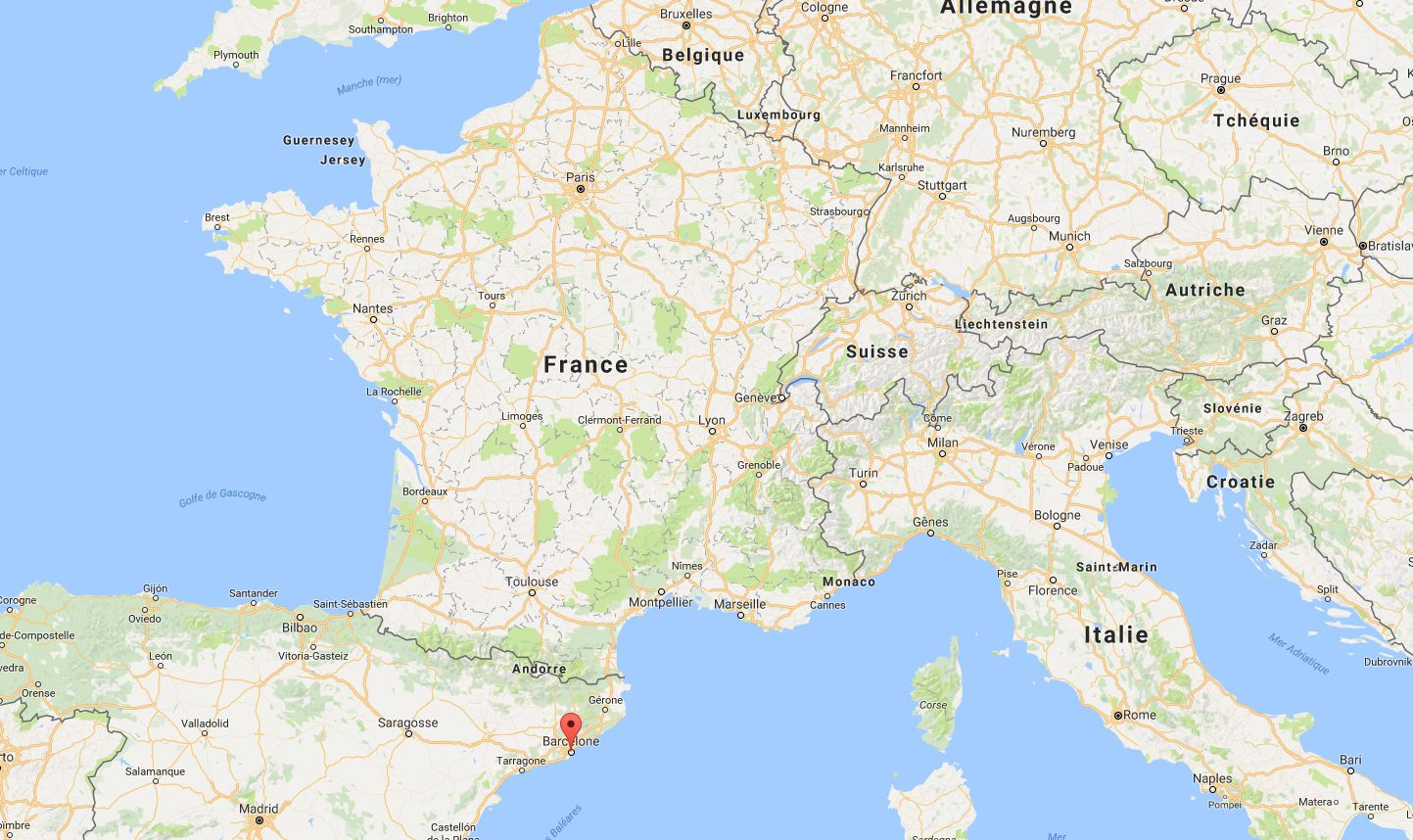 Où se trouve Barcelone sur une carte ?