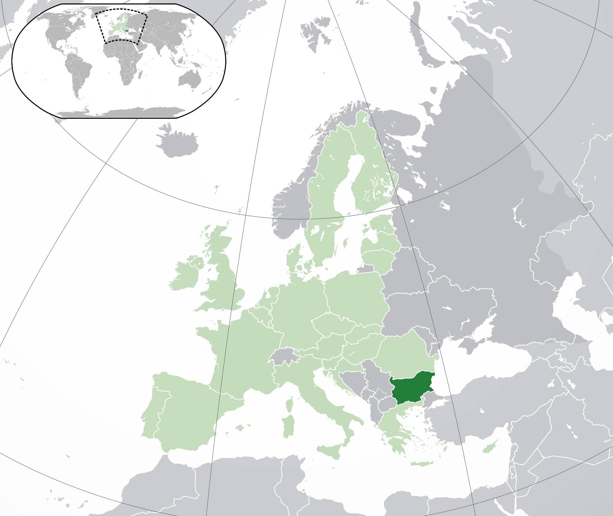 Où se trouve la Bulgarie sur une carte ?